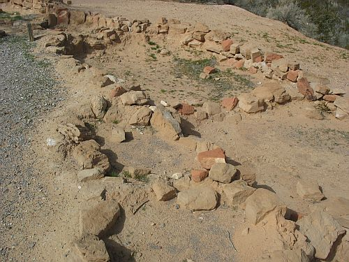 Original Foundations of a Room Block at Lost City Museum, Overton, Nevada