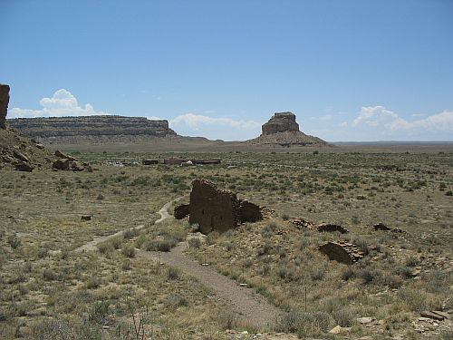 Visitor Center and Fajada Butte from Una Vida