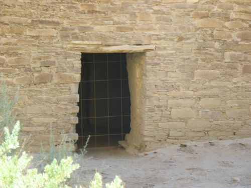 Doorway in Back Wall of Pueblo Bonito