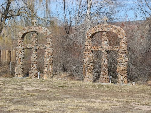 Masonry Crosses at Santuario de Chimayo