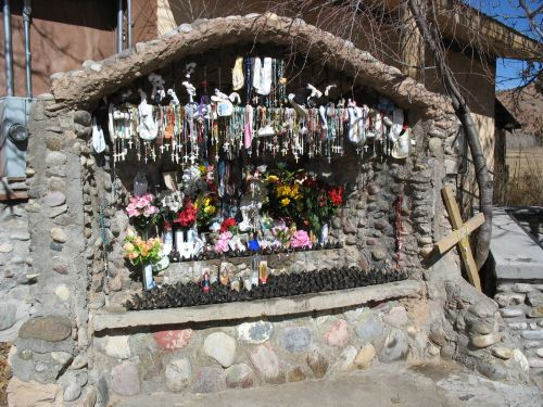 Outdoor Shrine at Santuario de Chimayo
