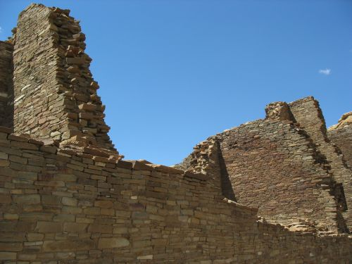 Walls at Pueblo Bonito Showing Capping