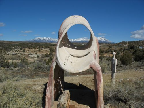 Sun Marker at Edge of the Cedars State Park, Blanding, Utah