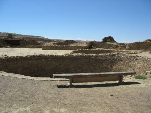 Kiva Q and West Plaza, Pueblo Bonito