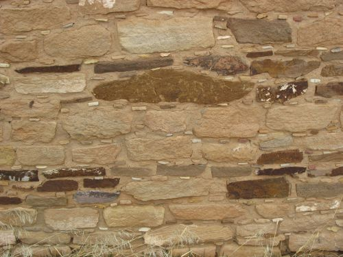 Closeup of Banded Masonry at Lowry Great House