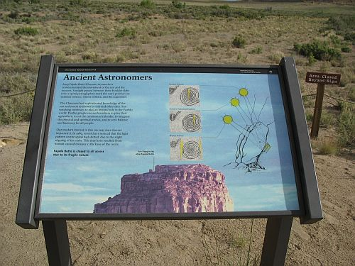 "Plaque at Fajada Butte View Describing the ""Sun Dagger"" Petroglyph"