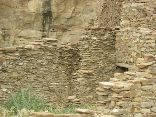 Possible T-Shaped Doorway in Type I Masonry, Pueblo Bonito