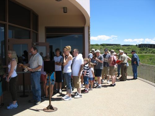 Line for Tour Tickets at Far View Visitor Center, Mesa Verde