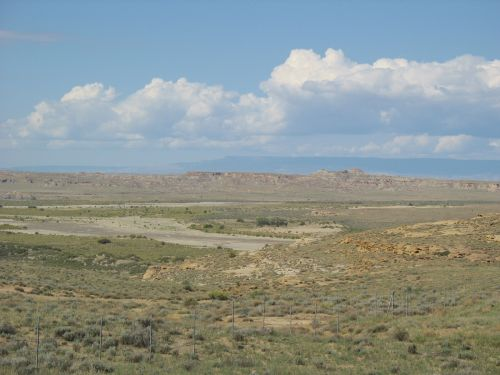 Chuska Mountains from Peñasco Blanco