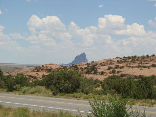 Shiprock and Beclabito Dome from Beclabito, New Mexico