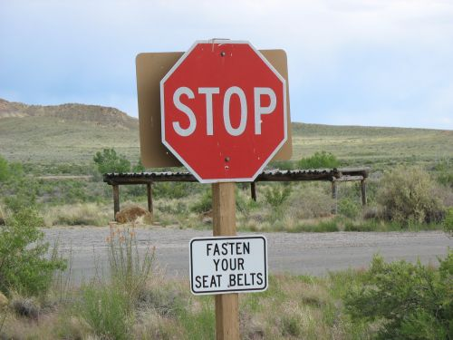 Stop Sign at Chaco Employee Housing Area