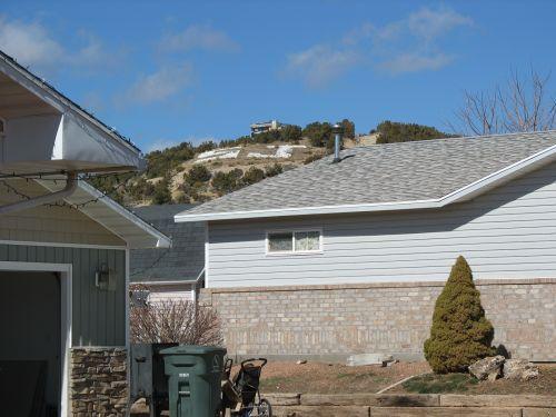 """""""SJ"""" (Presumably Standing for """"San Juan"""") on Hill above Blanding, Utah"""