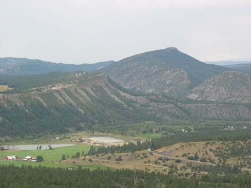 Piedra River Valley from Chimney Rock Mesa