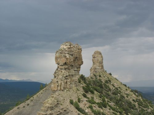 Companion Rock and Chimney Rock