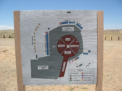 Map of Four Corners Monument Area