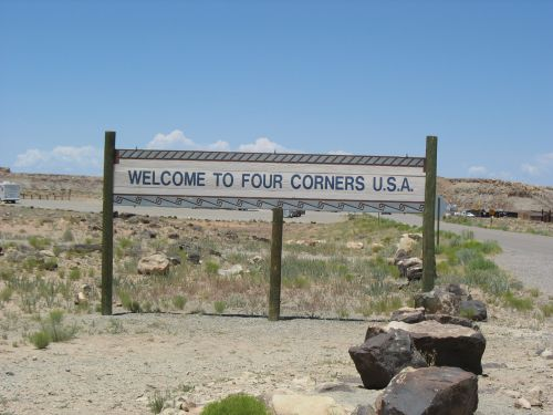 Four Corners Welcome Sign
