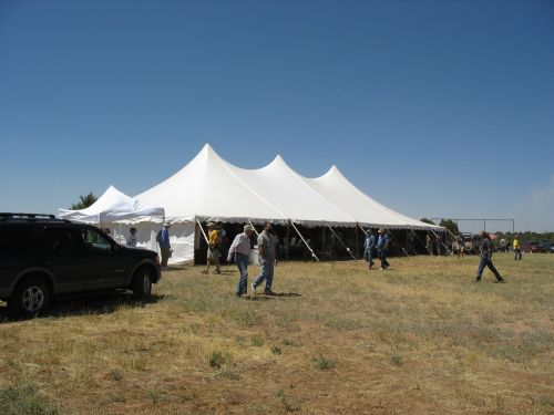 Book Tent at 2009 Pecos Conference, McPhee Campground