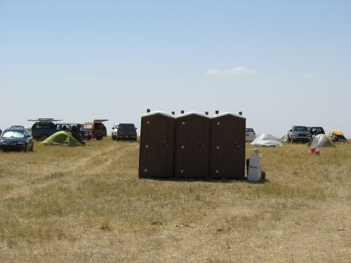 Facilities at McPhee Campground for Campers at 2009 Pecos Conference