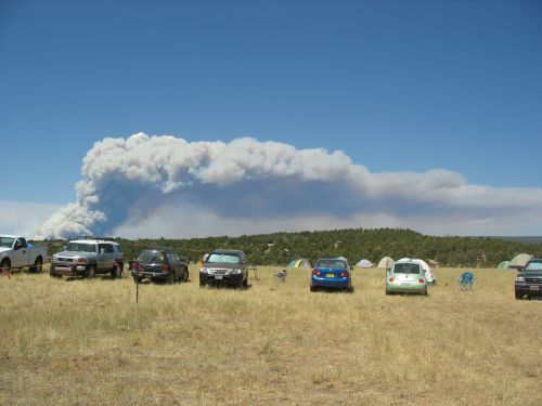 Forest Fire from McPhee Campground, Site of 2009 Pecos Conference