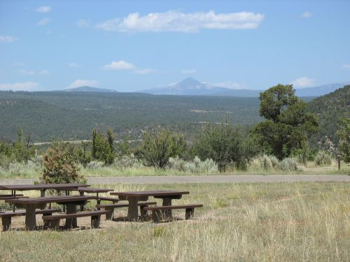 Picnic Tables at McPhee Campground, Site of 2009 Pecos Conference