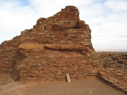 Wupatki Pueblo from the South, Showing T-Shaped Doorway into Room 44