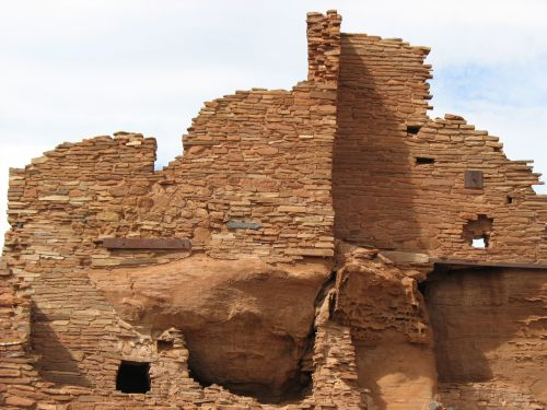 View of Wupatki Pueblo from the East, Showing Spurious Window in Room 44
