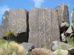 Abstract Panels at Three Rivers Petroglyph Site