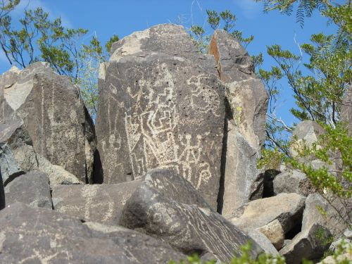 Complex Panels at Three Rivers Petroglyph Site