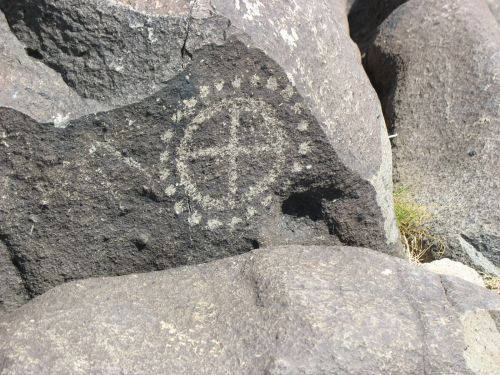 Quartered Circle at Three Rivers Petroglyph Site