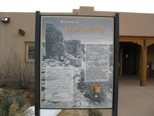 Welcome Sign at Hovenweep National Monument