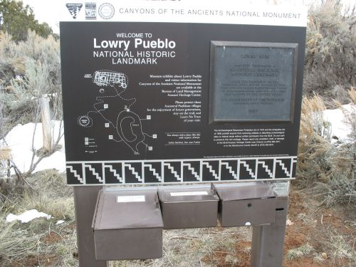 Welcome Sign at Lowry Pueblo