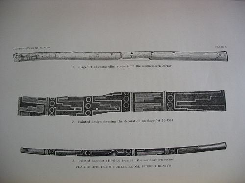 Plate I: Flageolets from Burial Room, Pueblo Bonito