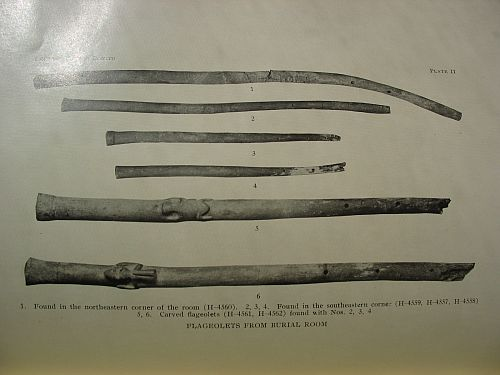 Plate II: Flageolets from Burial Room