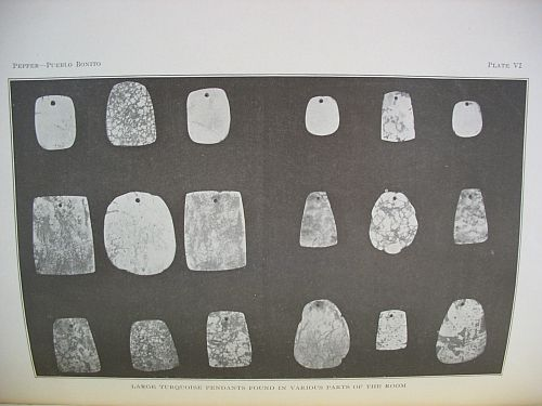 Plate VI: Large Turquoise Pendants Found in Various Parts of the Room