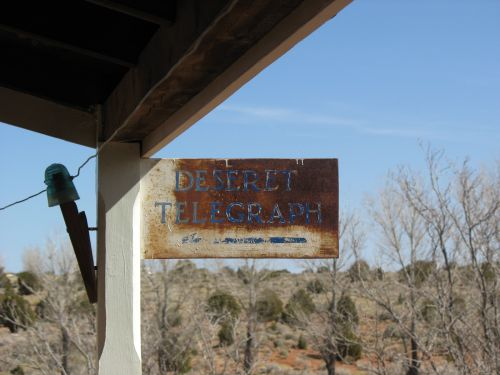 Deseret Telegraph Sign, Pipe Spring National Monument