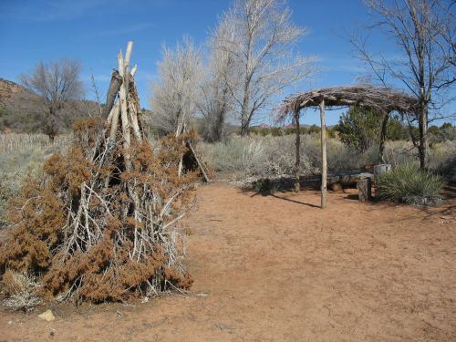 Paiute Brush Shelters, Pipe Spring National Monument