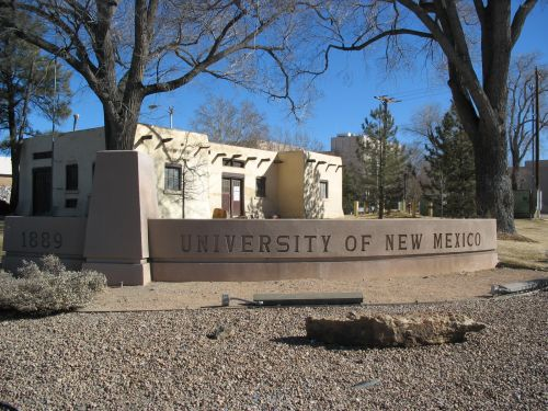 University of New Mexico Entrance Sign
