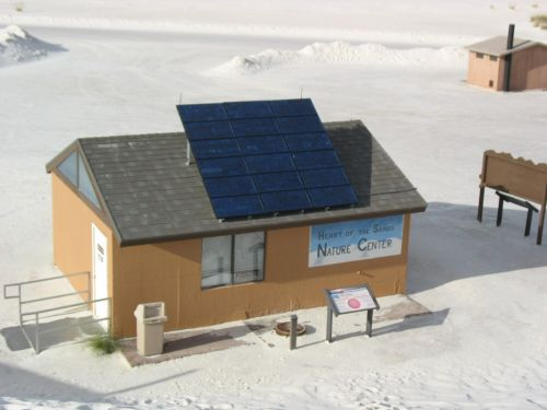 Solar Panels at Heart of the Sands Nature Center, White Sands National Monument