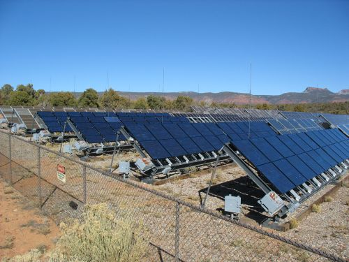 Various Types of Solar Panels at Natural Bridges National Monument