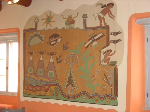 Planting Mural by Fred Kabotie at Painted Desert Inn, Petrified Forest