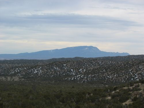 Sandia Mountains from Tent Rocks National Monument