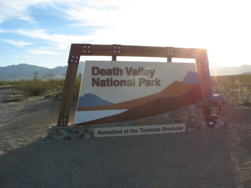 Entrance Sign, Death Valley National Park