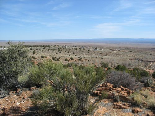 Kaibab Paiute Housing Development from Pipe Spring National Monument