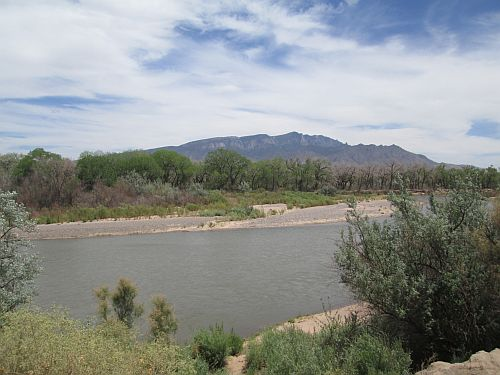 Rio Grande from Coronado State Monument, Bernalillo, New Mexico